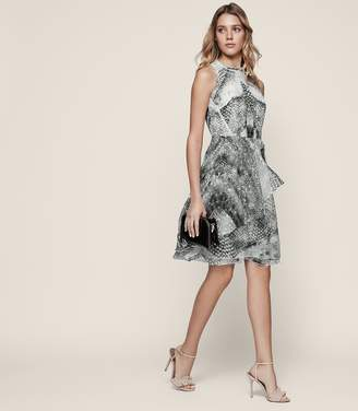 Reiss Sibilla Burnout-Detail Dress