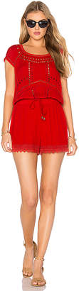 Ella Moss Broderie Anglaise Romper in Red $258 thestylecure.com