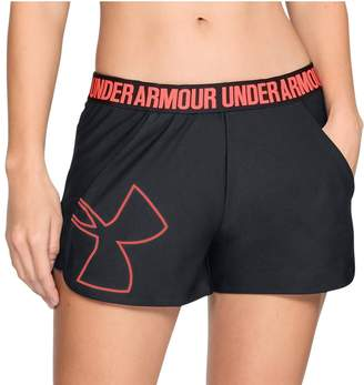 Under Armour Women's Play Up Graphic Mid-Rise Shorts