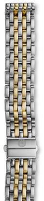 Michele 16mm Deco Bracelet Strap, Two-Tone