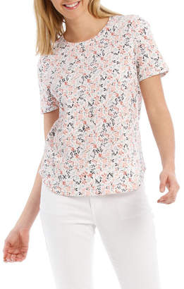 Regatta Pink Floral Short Sleeve Core Tee