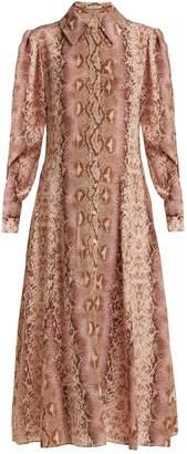 Emilia Wickstead Lucinda python-print silk shirtdress