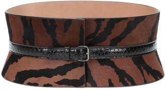 Alaia Calf hair and snakeskin belt