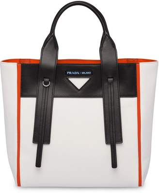 4ba14777004f Prada White Top Zip Handbags - ShopStyle