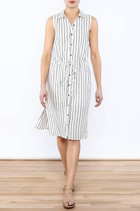 Everly Stripe Button-Down Dress $64 thestylecure.com