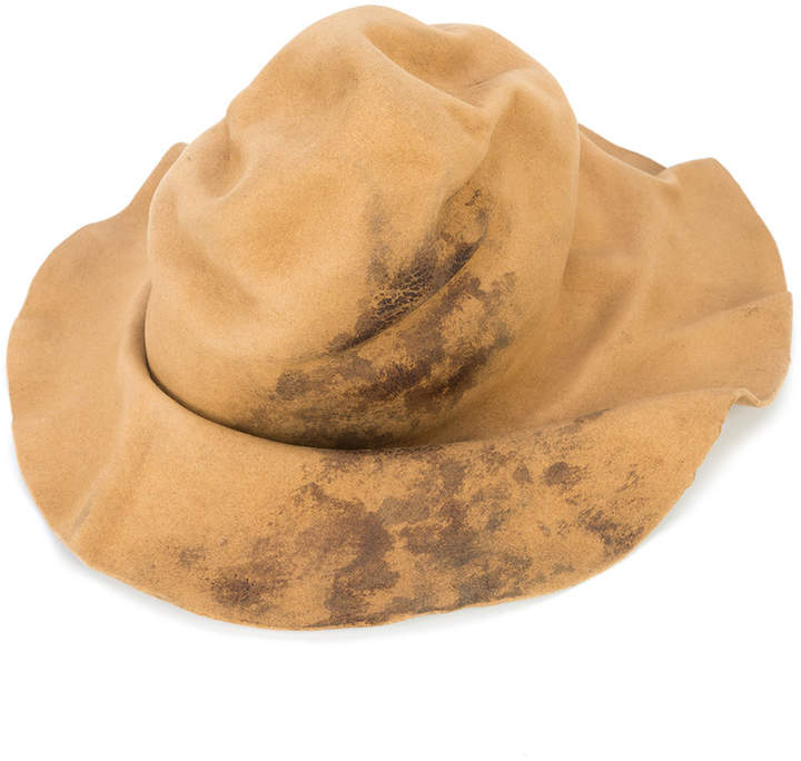 Horisaki Design & Handel wrinkled burned effect hat