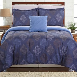 HUGO Pacific Coast Textiles 6 Piece Reversible Complete Bedding Set