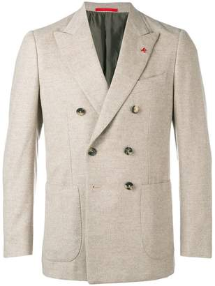 Isaia classic double-breasted blazer