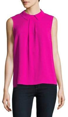 CeCe Front Collared Blouse