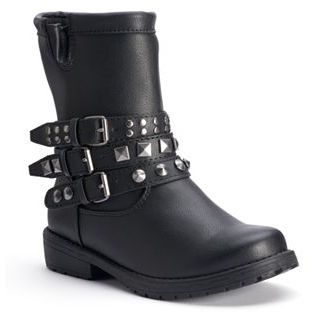 Mudd® Girls' Studded Moto Ankle Boots $54.99 thestylecure.com