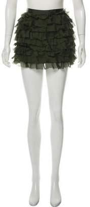 Haute Hippie Silk Ruffled Skirt