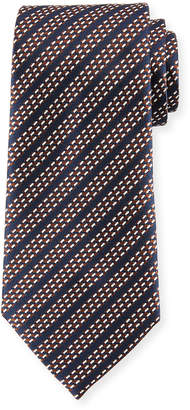 Ermenegildo Zegna Dash Stripes Silk Tie