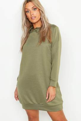 boohoo Plus Hooded Oversized Sweat Dress