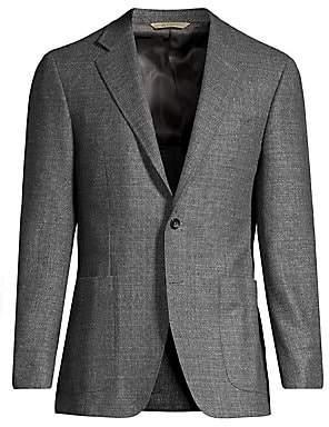 Canali Men's Textured Wool Blazer