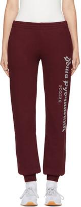 Gosha Rubchinskiy Burgundy Logo Lounge Pants $210 thestylecure.com