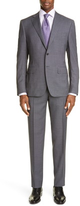 Canali Sienna Soft Trim Fit Houndstooth Wool Suit