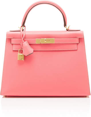 Hermes Heritage Auctions Special Collections 28cm Rose Azalee and Gris Mouette Epsom Leather Kelly