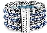 John Hardy Women's Classic Chain Silver, Aquamarine & Kyanite Multi-Row Bracelet