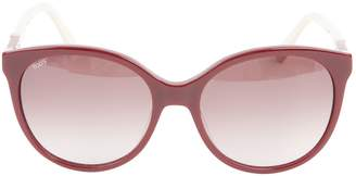 Tod's Burgundy Plastic Sunglasses