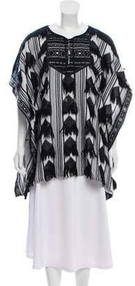 Calypso Fringe-Trimmed Embellished Tunic