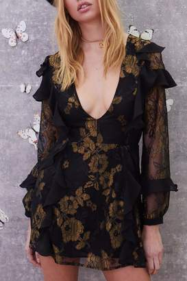 For Love & Lemons Bumble Ruffle Dress