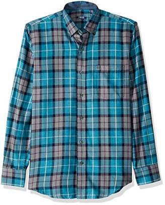 Izod Men's Flannel Buton Down Long Sleeve Soft Touch Shirt