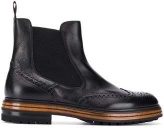 Santoni Derby Ankle Boots