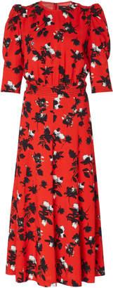 Derek Lam Floral-Print Georgette Midi Dress