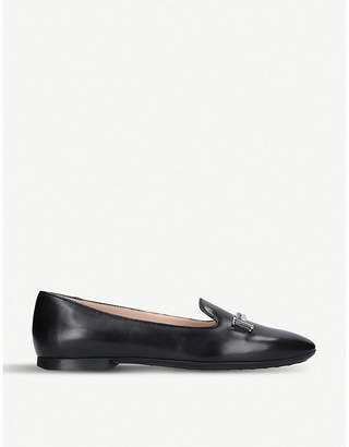 Tod's Tods Doppa leather ballerina pumps