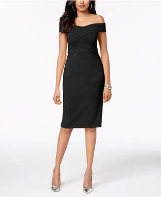 Thalia Sodi Off-The-Shoulder Sheath Dress