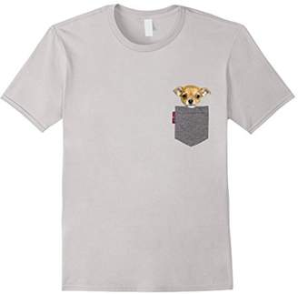 Funny Chihuahua in a Pocket Cute Puppy Tshirt