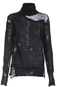 Diesel Distressed High Neck Sweater