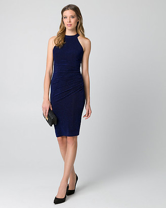 Le Château Sparkle Knit Halter Cocktail Dress