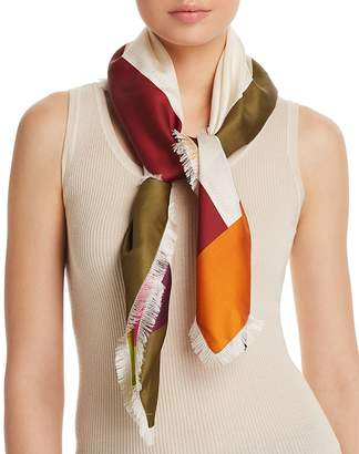 Salvatore Ferragamo Border Square Silk Scarf