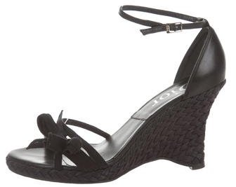 Christian Dior Leather Wedge Sandals