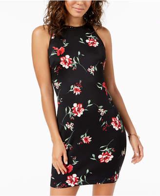 B. Darlin Juniors' Floral-Print Bodycon Dress