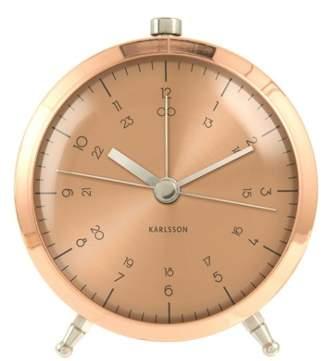 Karlsson Button Copper Plated Alarm Clock
