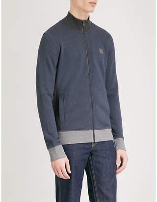 BOSS Zip-up slim-fit cotton-jersey jacket