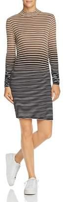 ATM Anthony Thomas Melillo Dip-Dyed Micro-Stripe Dress