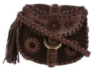 Isabella Fiore Suede Crossbody Bag