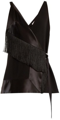 Altuzarra Cheyanne Fringed Crepe Top - Womens - Black