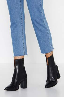 Nasty Gal V Smooth Leather Boot