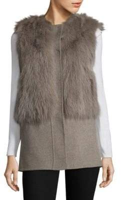 Pologeorgis Dyed Fox Fur & Wool Vest