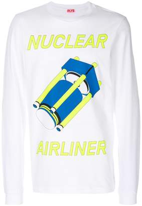 Plys oversized printed sweatshirt