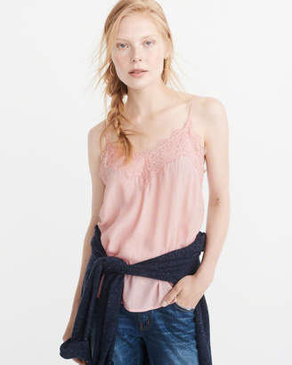 Lace-Trim Cami $28 thestylecure.com