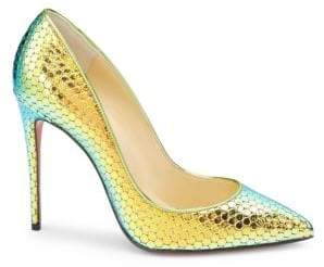 Christian Louboutin Pigalle 100 Textured Mirror Leather Pumps