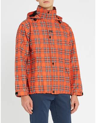 Sandro Helly Hansen tartan shell hooded jacket