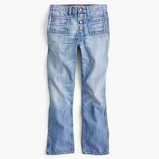 Point Sur vintage patch-pocket cropped jean in light wash