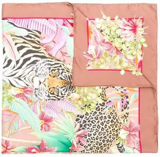Salvatore Ferragamo Tiger print scarf