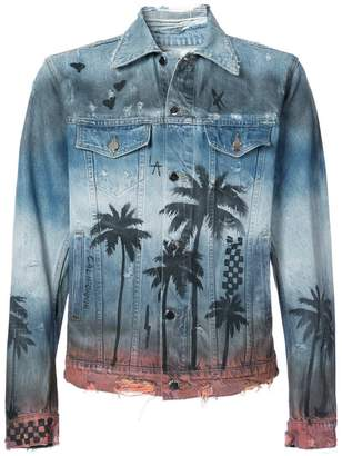 Amiri Palm Denim Trucker jacket